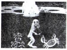 Сражение обезьяны и краба
