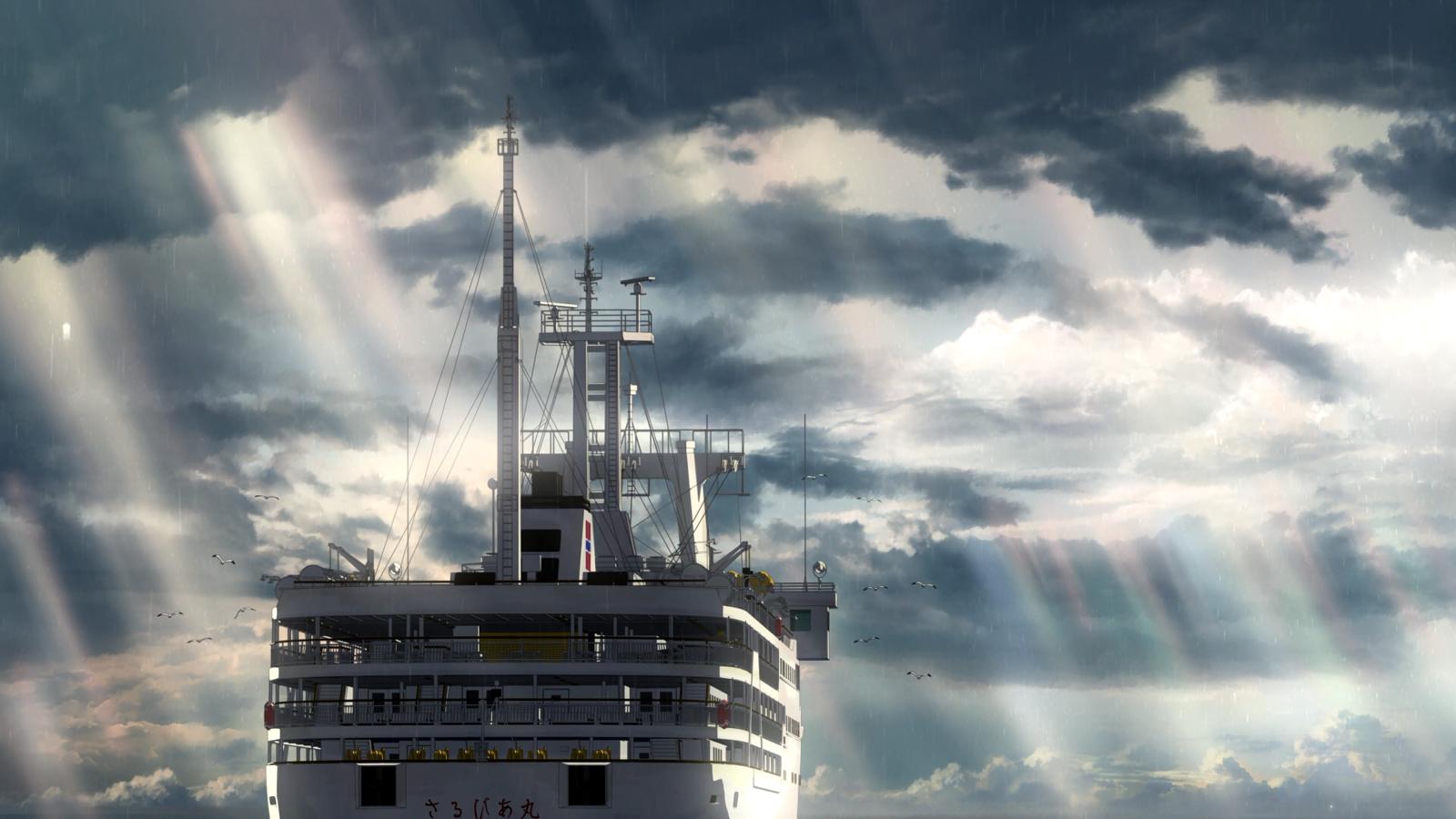 Кадр из аниме Дитя погоды