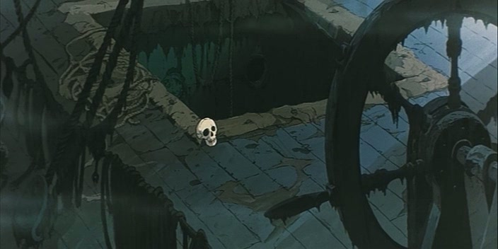 Кадр из аниме Корабль-призрак