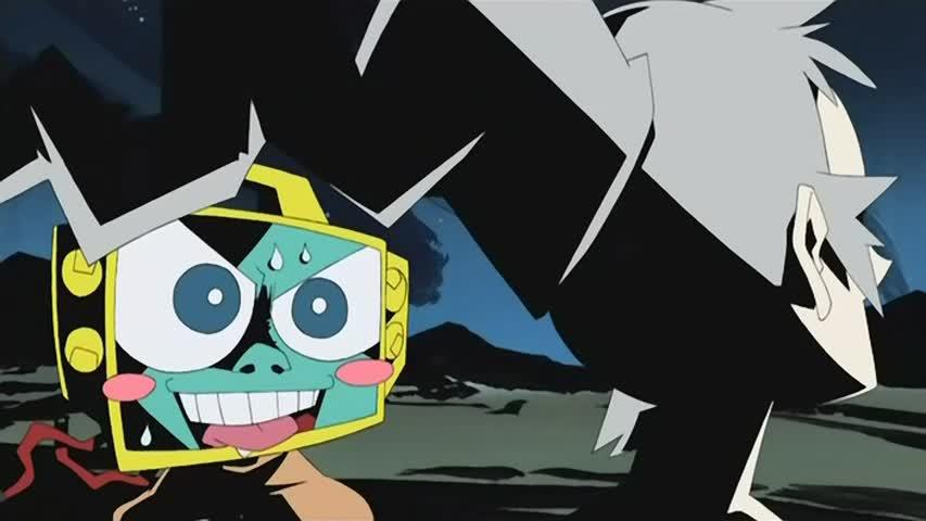 Кадр из аниме Мёртвые листья: Звёздная тюряга